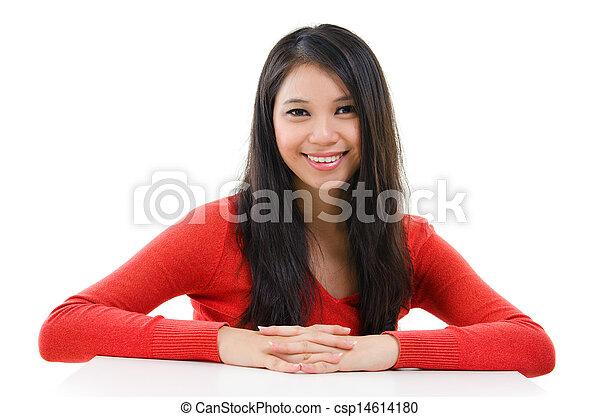 56c6d1600b Mixed race woman portrait. Asian woman portrait. pretty young ...