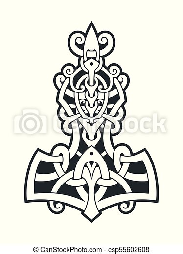 Mjollnir Thors Hammer Is An Amulet Of Vikings A Symbol Of
