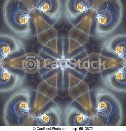 mjuk, mandala, stjärna - csp16613872