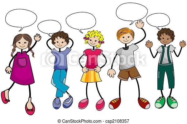 mluvící, děti - csp2108357