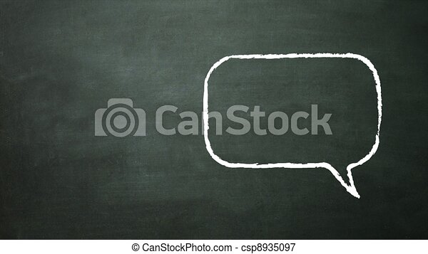mluvit, móda, čtverec, ikona - csp8935097
