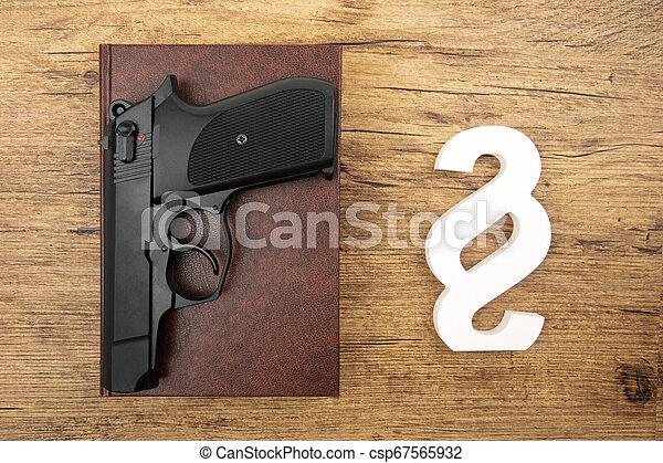 mm, symbole, paragraphe, neuf, pistolet - csp67565932