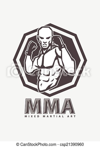 vector illustration of mma fighter clip art vector search drawings rh canstockphoto com mma clipart free mma fighters clipart