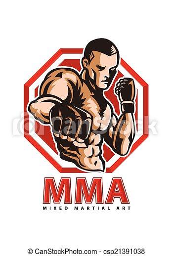 vector illustration of mma fighter vectors search clip art rh canstockphoto com mma fighters clipart Female MMA Clip Art