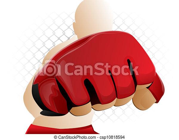 MMA Glove Punch - csp10818594