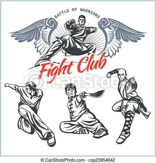 MMA Labels -  Vector Mixed Martial Arts Design. - csp23954642