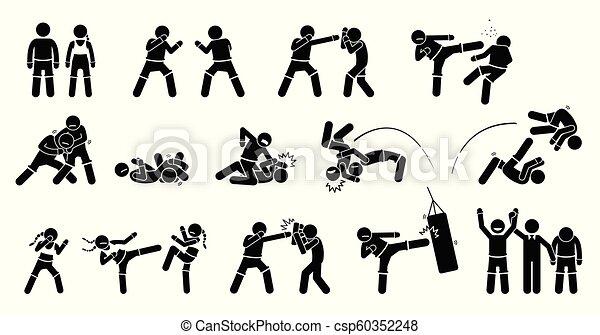 Mma Mixed Martial Arts Actions