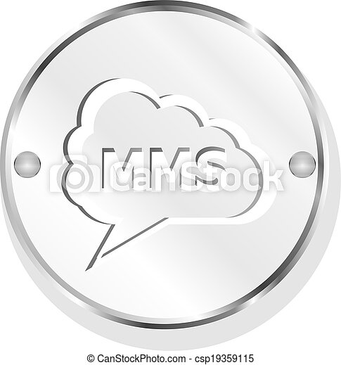 mms glossy web icon isolated on white background - csp19359115