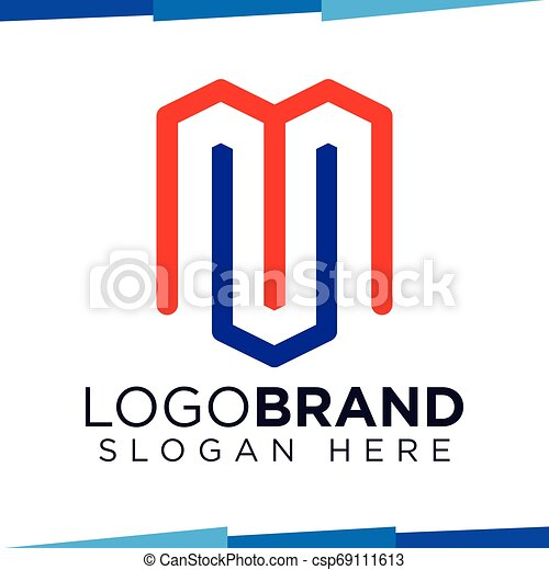 MN Initial Letter logo vector template - csp69111613