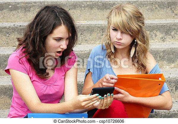 mobbing, begriff, oder, cyber, online - csp10726606