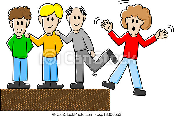 mobbing clipart colleagues bullying few bully vector clip illustration another illustrations drawings silhouette cyber eps workplace anti harassment stop canstockphoto