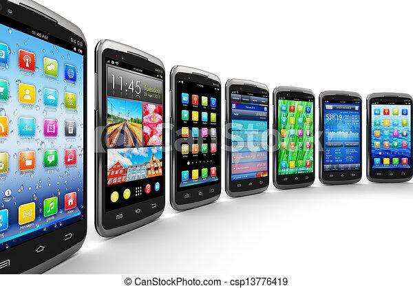mobil, applikationer, smartphones - csp13776419