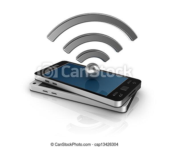 mobil, begrepp, nätverk - csp13426304