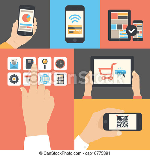 Mobile and tablet business communication usage - csp16775391