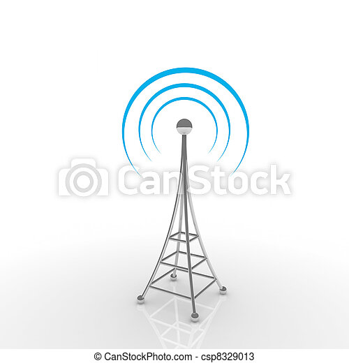 Mobile antena. Communication concept - csp8329013