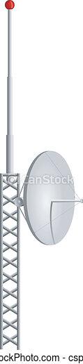 mobile, antenne, vettore, illustrazione - csp7703917