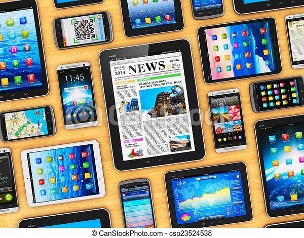 mobile, appareils - csp23524538