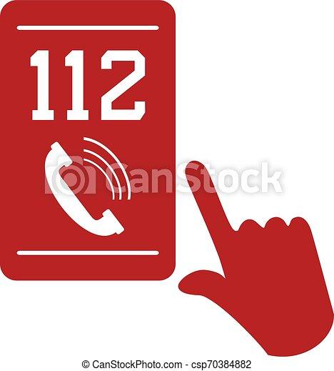 mobile, appeler, urgence, 112 - csp70384882