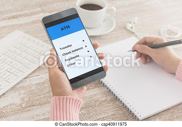 mobile banking - csp40911975