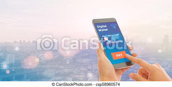 mobile banking - csp58960574