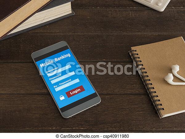 mobile banking - csp40911980