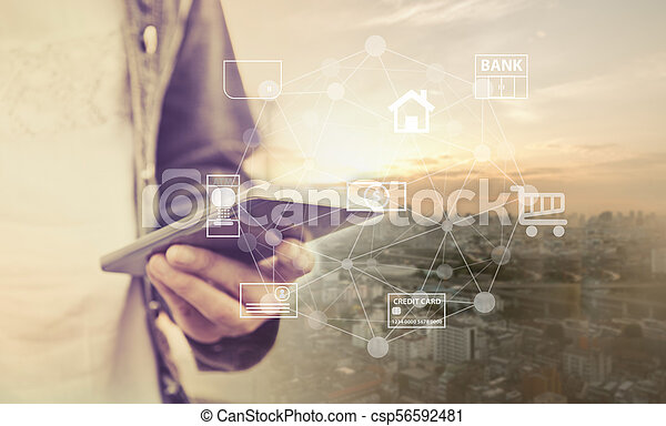 mobile banking - csp56592481