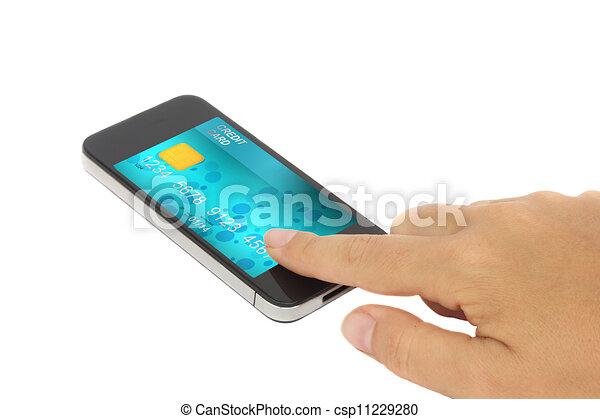 mobile banking - csp11229280