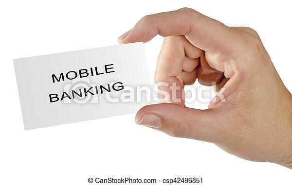 Mobile banking - csp42496851