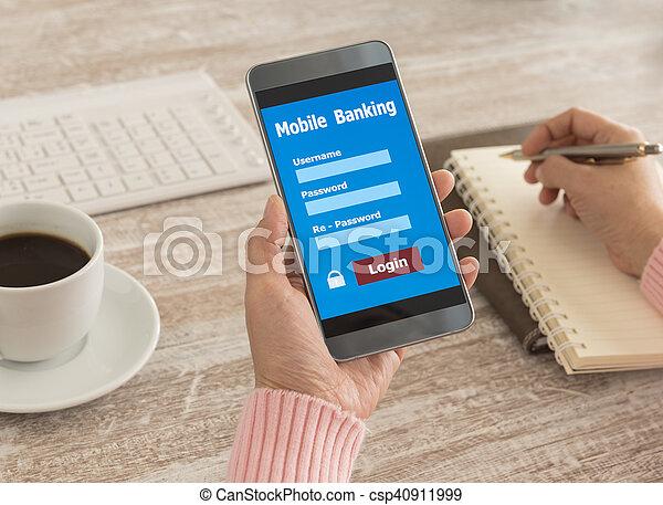 mobile banking - csp40911999