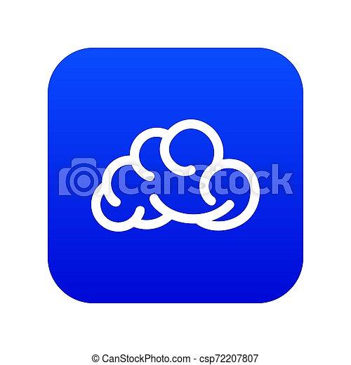 Mobile cloud icon blue - csp72207807