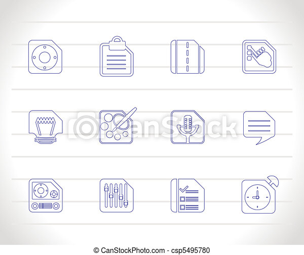 mobile, computer, telefono, internet - csp5495780