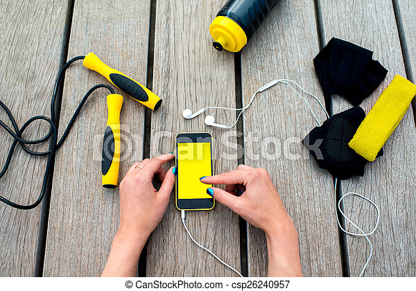 mobile, domanda, sport - csp26240957