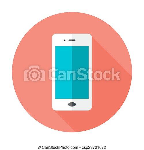 Mobile Flat Circle Icon - csp23701072