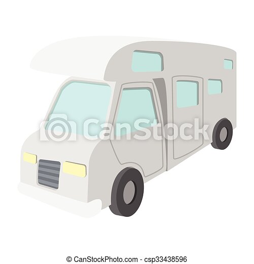 Mobile home truck cartoon icon on real estate home, dance home, investment home, personal home, fishing home, irrigation home, motorcycle home,