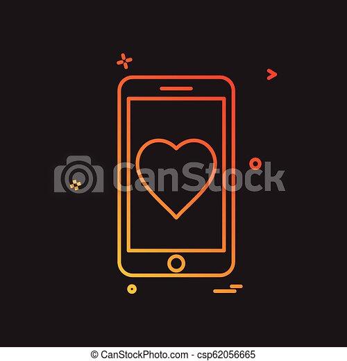 Mobile icon design vector - csp62056665