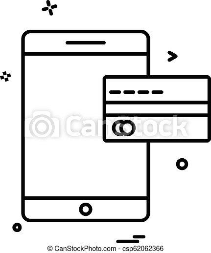 Mobile icon design vector - csp62062366