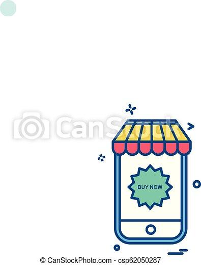 Mobile icon design vector - csp62050287