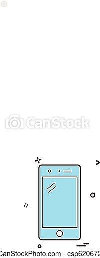 Mobile icon design vector - csp62067225