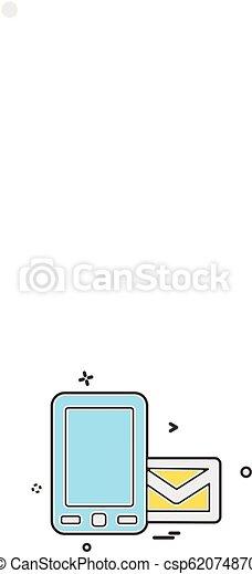 Mobile icon design vector - csp62074870