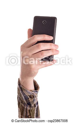 mobile, images, intelligent, confection, téléphone - csp23867008