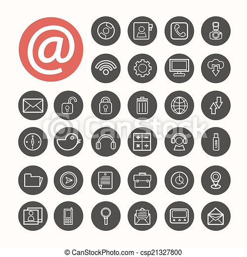 Mobile Interface Icons set .Illustration eps10 - csp21327800