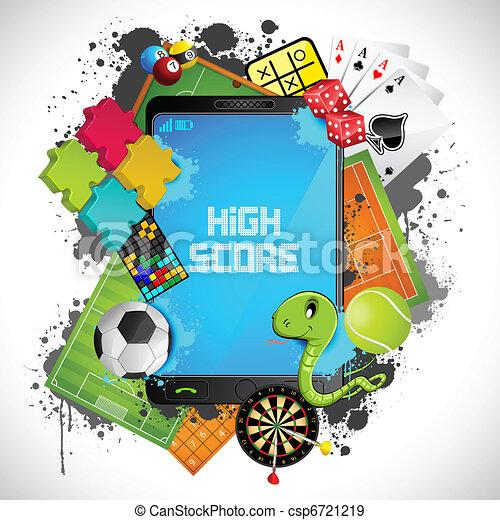 mobile, jeu - csp6721219
