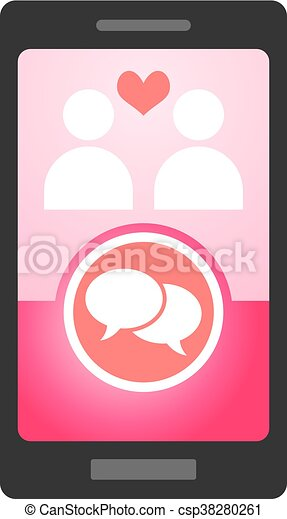 mobile love chat - csp38280261