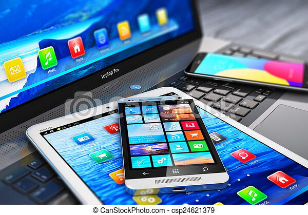 mobile, moderne, appareils - csp24621379