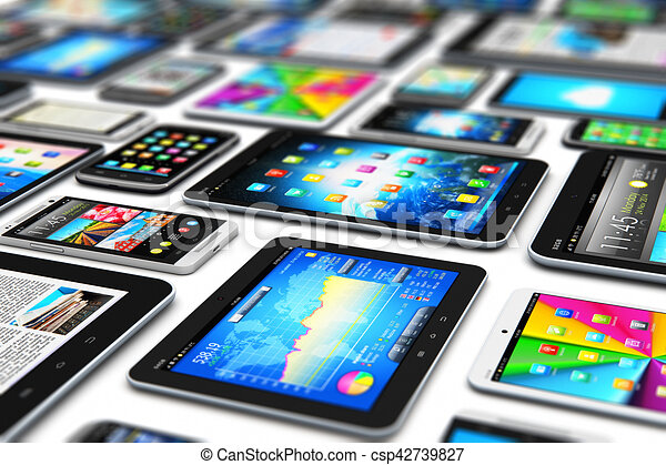 mobile, moderne, appareils - csp42739827