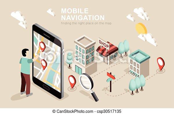 mobile, navigation - csp30517135
