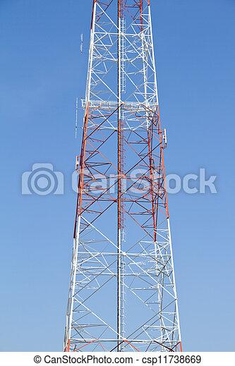 mobile, ph, télécommunications, tower. - csp11738669
