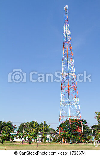 mobile, ph, télécommunications, tower. - csp11738674