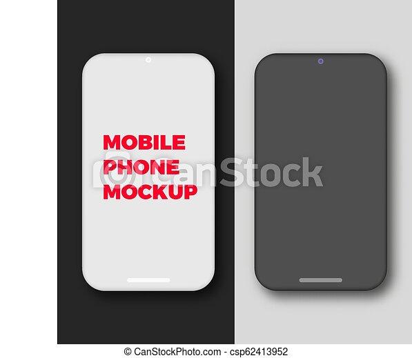 mobile phone blank screen mockup
