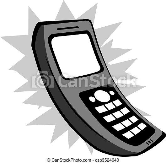 mobile phone illustration of a cordless telephone rh canstockphoto com Land Line Phone Clip Art Phone Ringing Clip Art